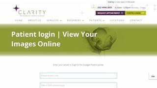 Clarity Imaging Patient Portal