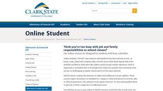 Clark State Student Portal