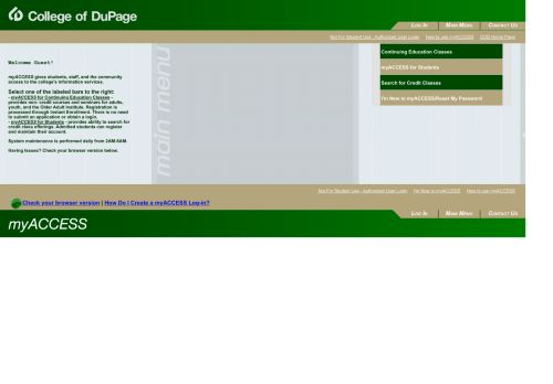 College Of Dupage Student Portal