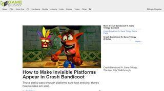 Crash Bandicoot Portal