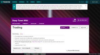 Deep Town Wiki Portal