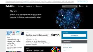 Deloitte Alumni Portal