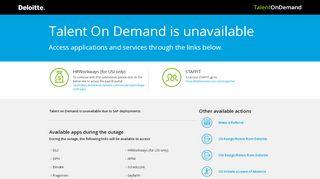 Deloitte Talent On Demand Portal