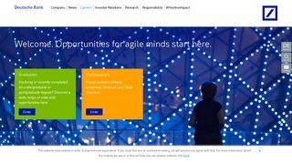 Deutsche Bank Application Portal