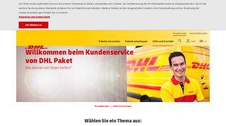 Dhl Kundenservice Portal