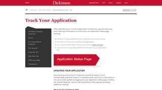 Dickinson College Applicant Portal