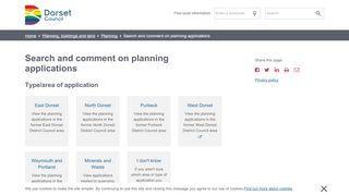 Dorset Planning Portal