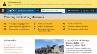 East Lothian Council Planning Portal