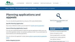 East Staffs Planning Portal