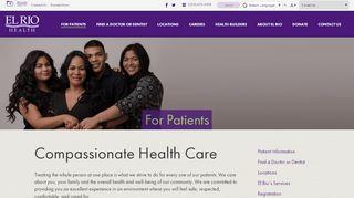 El Rio Health Portal