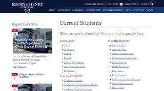 Emory And Henry Student Portal