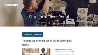 Etax Local Portal