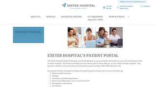 Exeter Hospital Patient Portal