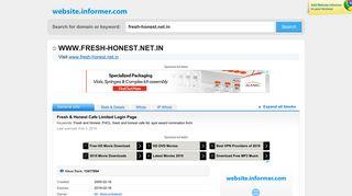 Fresh & Honest Cafe Ltd Login Page
