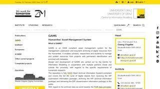 Gams Web Portal