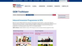 Gem Trailblazer Exchange Study Abroad Portal
