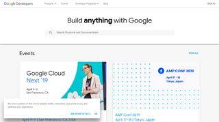 Google Developer Portal
