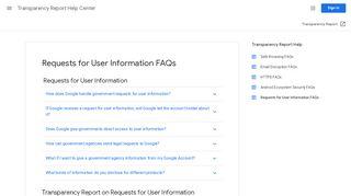 Google Law Enforcement Portal