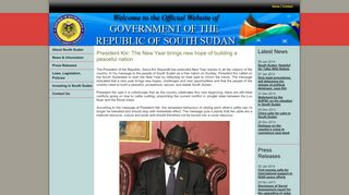 Government Of The Republic Of South Sudan Official Portal