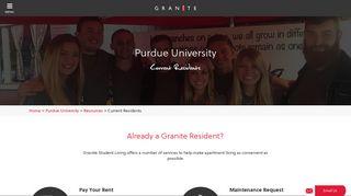 Granite Student Living Portal