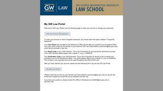 Gw Portal Law