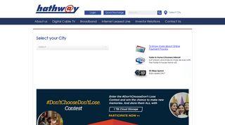 Hathway Portal Web Page