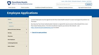 Hershey Medical Center Employee Portal