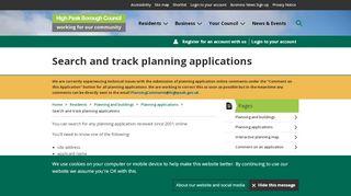 High Peak Borough Council Planning Portal