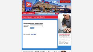 Holiday Gas Station Employee Portal