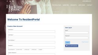 Hopkins House Resident Portal