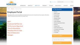 Horizon Behavioral Health Employee Portal