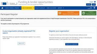 Participant Portal Eu