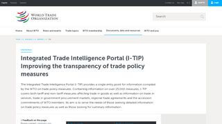 I-tip Portal Of Wto