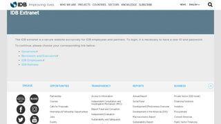 Iadb Employee Portal