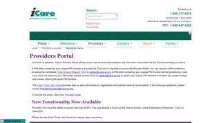 Icare Provider Portal