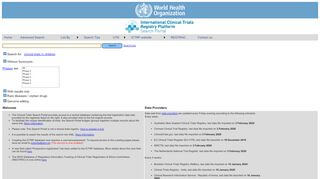 Ictrp Search Portal