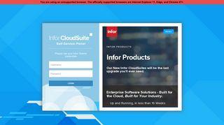 Infor Cloudsuite Portal