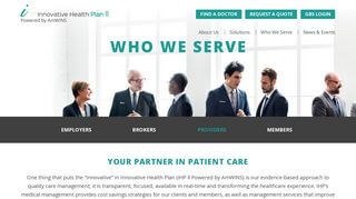 Innovative Health Plan Provider Portal