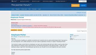 Joomla Employee Portal
