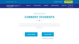 Kaplan Business School Student Portal