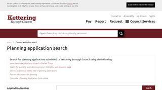 Kettering Planning Portal