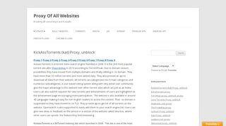 Kickass Proxy Portal