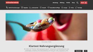 Klartext Nahrungsergänzungsmittel Portal