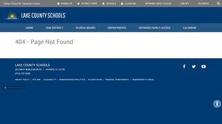 Lake County Schools My Portal