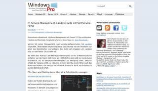 Landesk Self Service Portal
