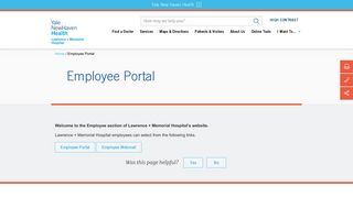 Lawrence And Memorial Hospital Employee Portal