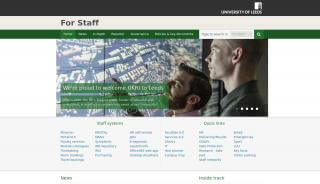 Leeds University Staff Portal