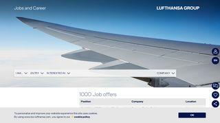 Lufthansa Karriere Portal