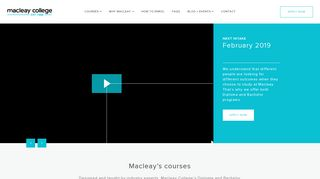 Macleay College Student Portal