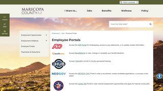 Maricopa County Employee Portal